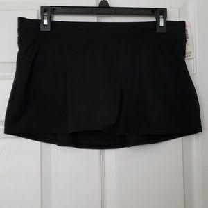 Black Bathing Suit Bottom Skirt